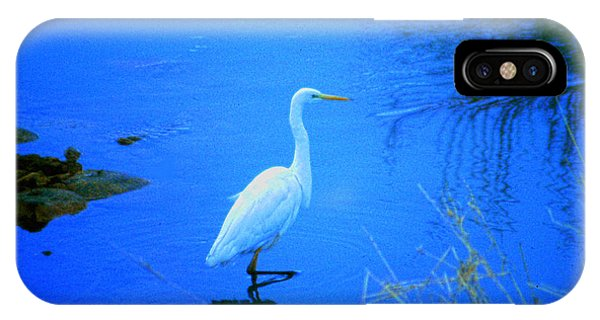 The Snowy White Egret IPhone Case