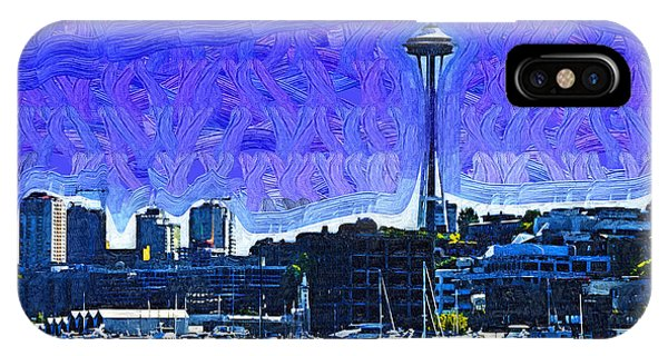 The Space Needle From Lake Union IPhone Case