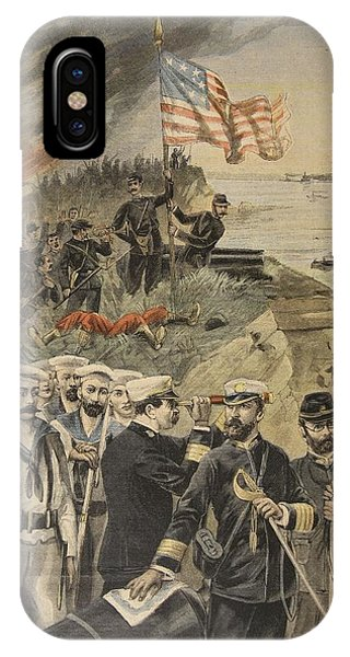The Spanish American War Landing IPhone Case