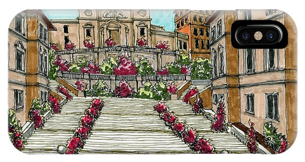 iPhone Case - The Spanish Steps In Rome by Paul Guyer