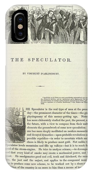 Finance iPhone Case - The Speculator by British Library