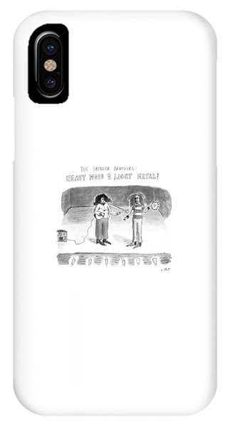 The Spencer Brothers Heavy Wood Or Light Metal IPhone Case