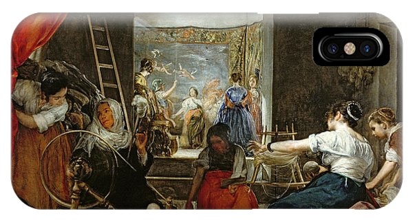 The Spinners, Or The Fable Of Arachne, 1657 Oil On Canvas For Detail See 36741 IPhone Case