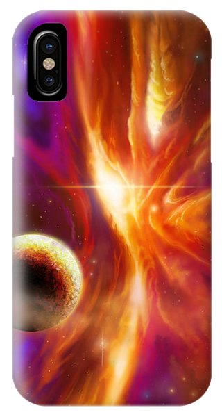 The Spirit Realm Of The Saphire Nebula IPhone Case