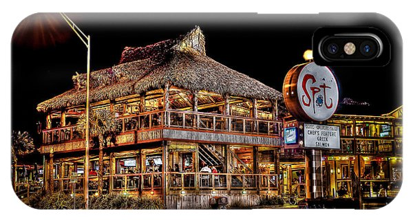 Tiki Bar iPhone Case - The Spot by David Morefield