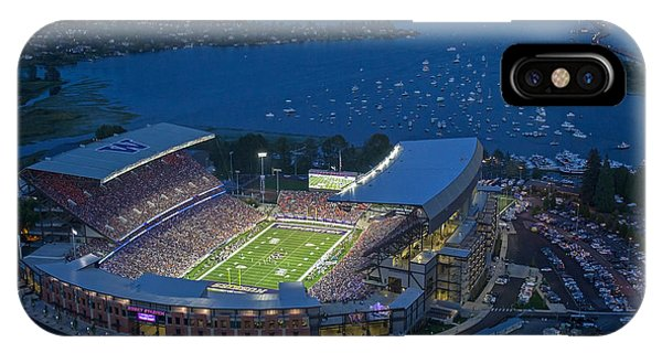 Seattle iPhone Case - Husky Stadium And The Lake by Max Waugh