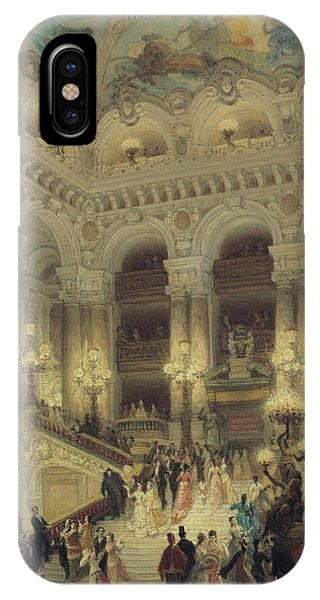 Columns iPhone Case - The Staircase Of The Opera by Louis Beroud