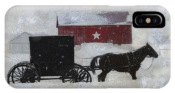 The Star Barn In Winter IPhone Case