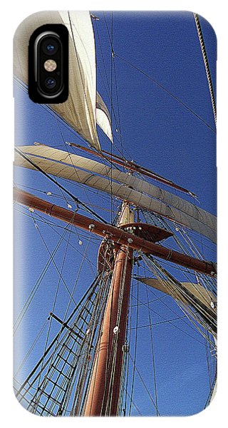 The Star Of India. Mast And Sails IPhone Case