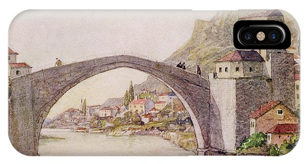 Mostar iPhone Case - The Stari Most (old Bridge) - Mostar by Mary Evans Picture Library