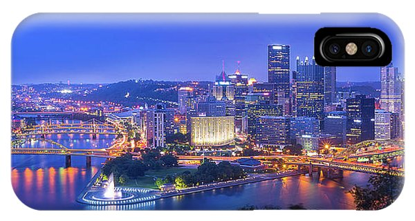 United States iPhone Case - The Steel City by Michael Zheng