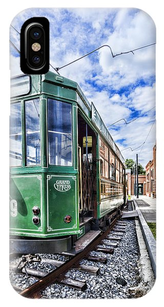 The Stib 1069 Streetcar At The National Capital Trolley Museum I IPhone Case