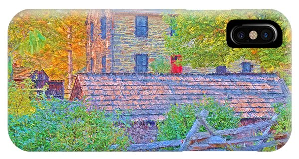 The Stone House At The Oliver Miller Homestead / Late Afternoon  IPhone Case