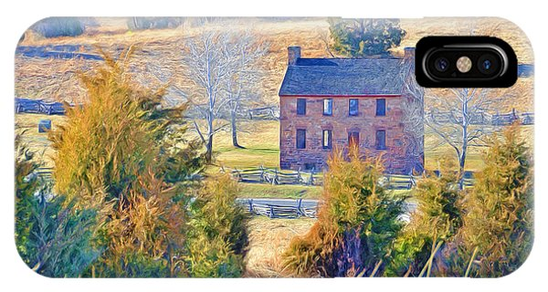 The Stone House / Manassas National Battlefield Park In Winter IPhone Case