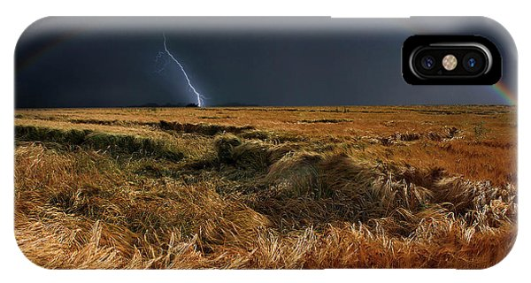 Rainbow iPhone Case - The Storm Is Over by Nicolas Schumacher