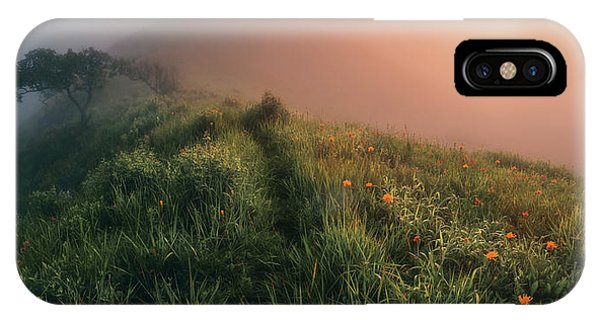 Panorama iPhone Case - The Story Of The Foggy Morning by Krovlin Andrey