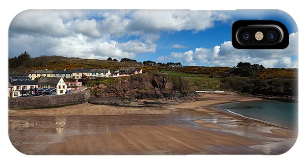 Dunmore East iPhone Case - The Strand Inn And Dunmore Strand by Panoramic Images