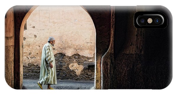 Street Light iPhone Case - The Streets Of Marrakesh by Piet Flour