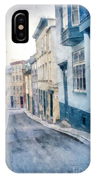 Quebec City iPhone Case - The Streets Of Old Quebec City by Edward Fielding