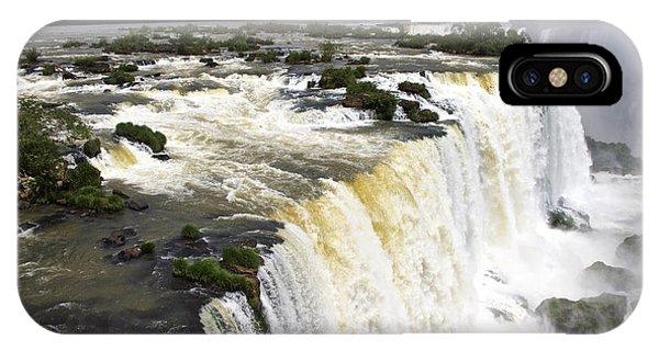The Stunning Falls Of Iguacu Brazil Side IPhone Case
