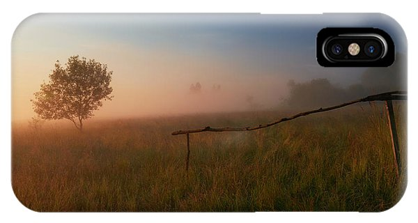 Fence iPhone Case - The Summer Field by Krzysztof Mierzejewski