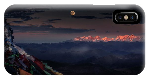 Panorama iPhone Case - The Sun And The Moon Together A??ae??a??e??a??a?? by Qiye????