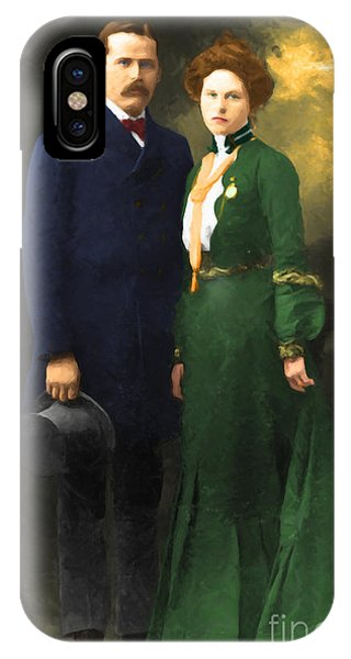 Sharpshooter iPhone Case - The Sundance Kid Harry Longabaugh And Etta Place 20130515 by Wingsdomain Art and Photography