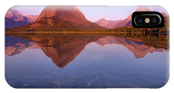 iPhone Case - The Sunrise On Mount Grinnell As Seen by Ben Horton