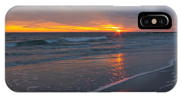 The Sunset Kissing The Waves IPhone Case