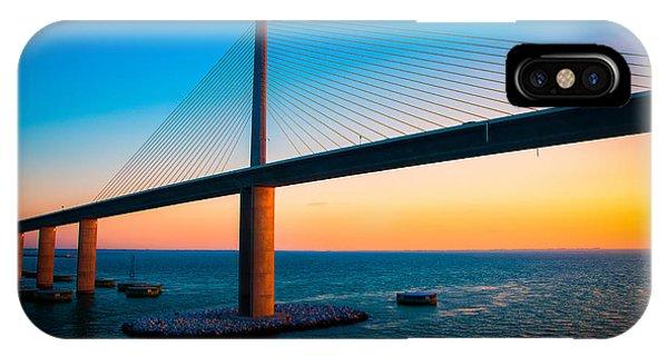 The Sunshine Under The Sunshine Skyway Bridge IPhone Case