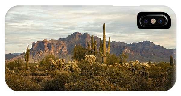 The Superstition Mountains IPhone Case