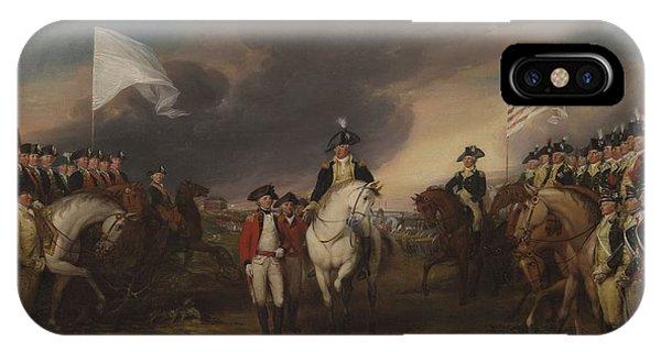 Yorktown iPhone Case - The Surrender Of Lord Cornwallis At Yorktown, October 19, 1781 by John Trumbull