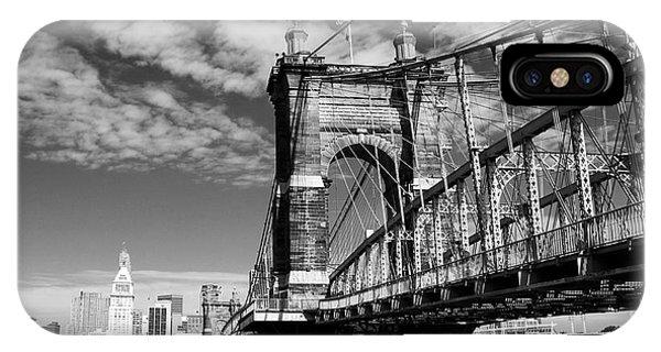 The Suspension Bridge Bw IPhone Case