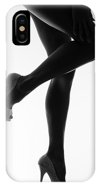 Simple iPhone X Case - The Sweet Caress Of Twilight by Thierry Lagandr?? (transgressed