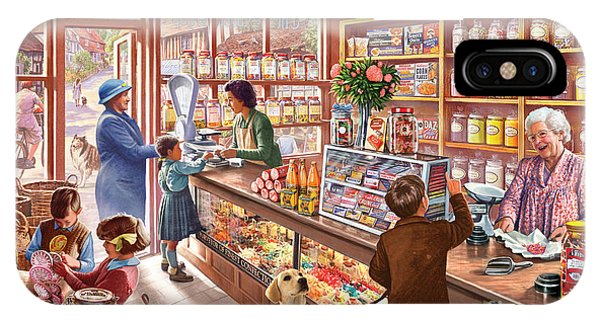 Shelves iPhone Case - The Sweetshop by MGL Meiklejohn Graphics Licensing