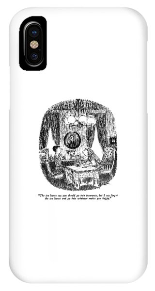 The Tea Leaves Say You Should Go Into Insurance IPhone Case