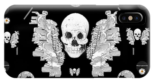 Bone iPhone Case - The Temple Of Skulls by Pepita Selles