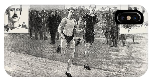 Lillie iPhone Case - The Ten-mile Race At Lillie Bridge Between W by English School