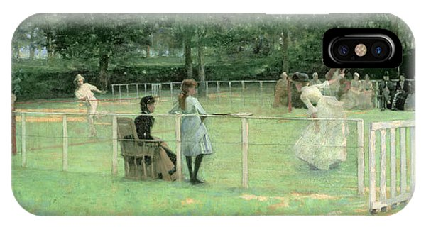 Racquet iPhone Case - The Tennis Party by Sir John Lavery