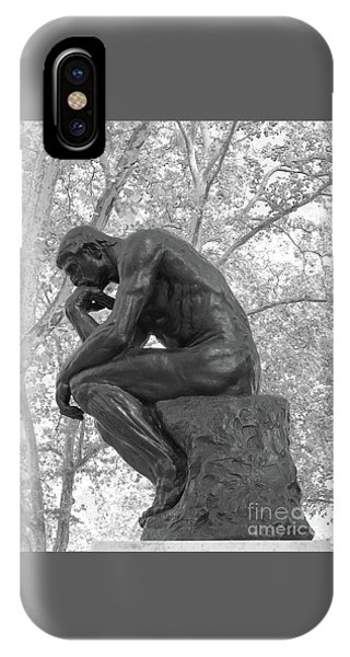 The Thinker - Philadelphia Bw IPhone Case