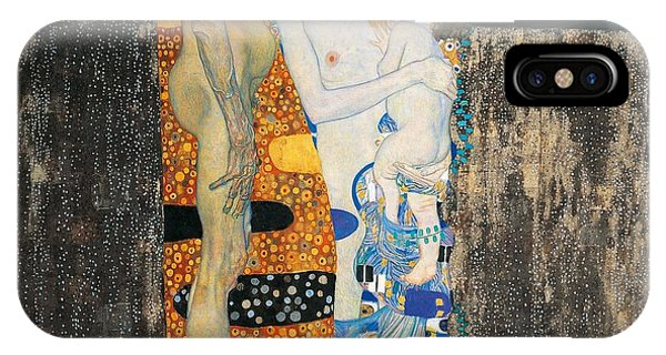 Imagination iPhone Case - The Three Ages Of Woman by Gustav Klimt