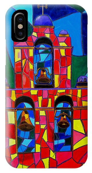 The Three Bells Of San Jose Mission Phone Case by Patti Schermerhorn