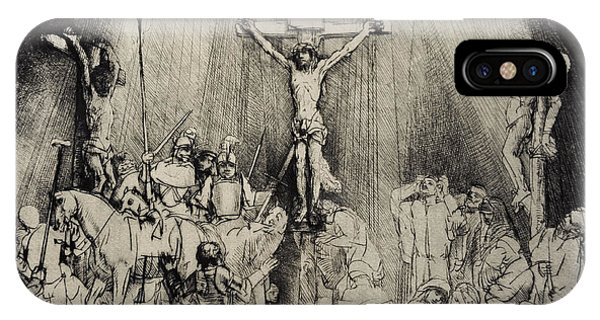 Crucifixion iPhone Case - The Three Crosses by Rembrandt Harmensz van Rijn