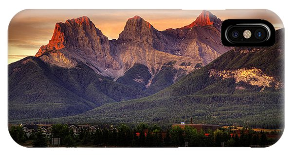 The Three Sisters Canmore IPhone Case