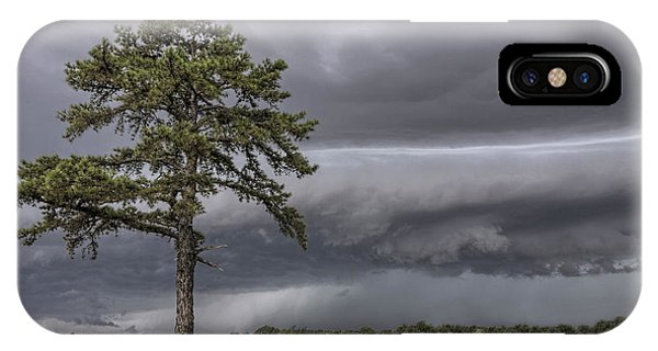 The Thunder Rolls - Storm - Pine Tree IPhone Case