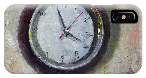 Clock iPhone Case - The Times by Ylli Haruni