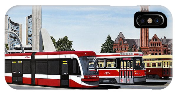 The Toronto Streetcar 100 Years IPhone Case