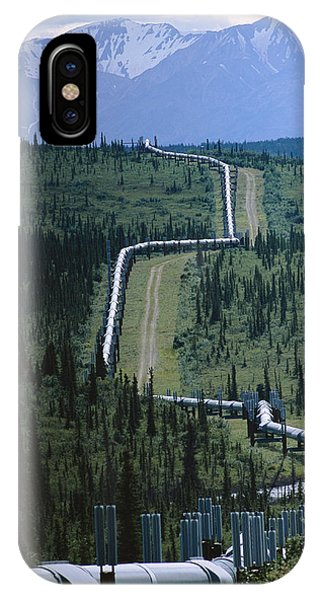 The Trans-alaska Pipeline Cuts Phone Case by Melissa Farlow