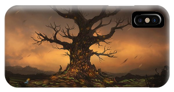 Cassiopeiaart iPhone Case - The Tree by Cassiopeia Art