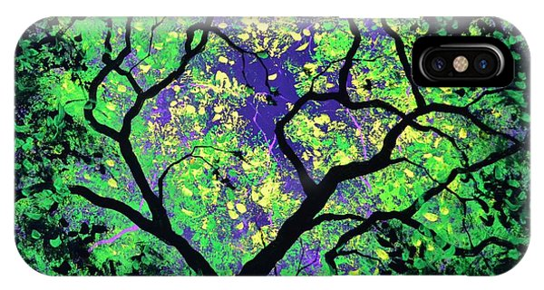 The Tree Of Life #2 In Black Light IPhone Case